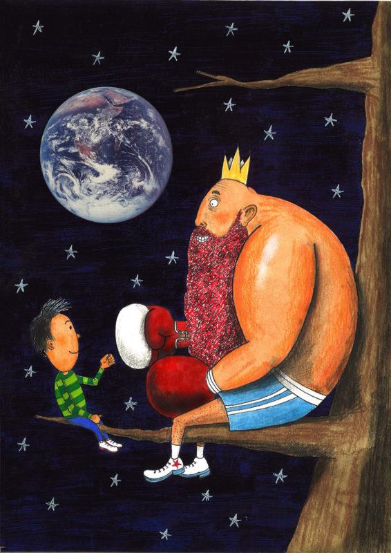 illustratie Bart Van Tieghem - koning Mores