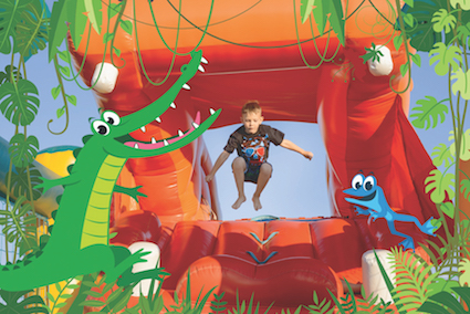 Jungle Jump pop-up event met springkastelen